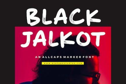 Black Jalkot - An Allcaps Marker Font
