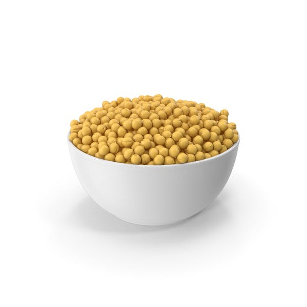Ceramic Bowl With Peas