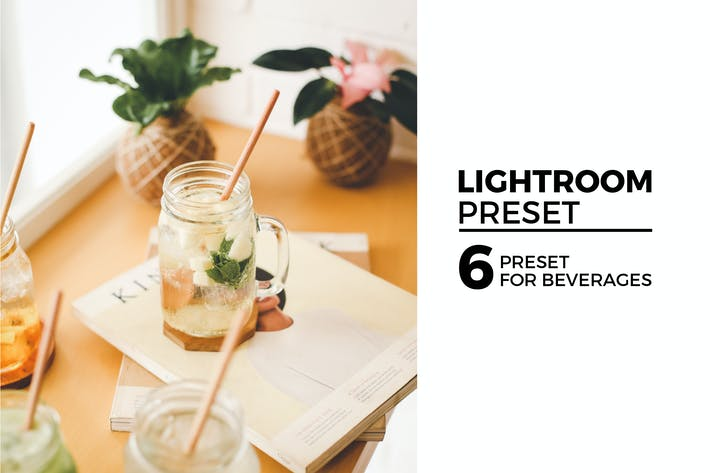 Thumbnail for 6 Lightroom Preset for Beverages