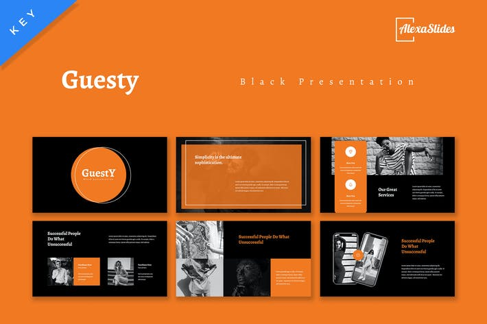 Guesty - Black Keynote Template