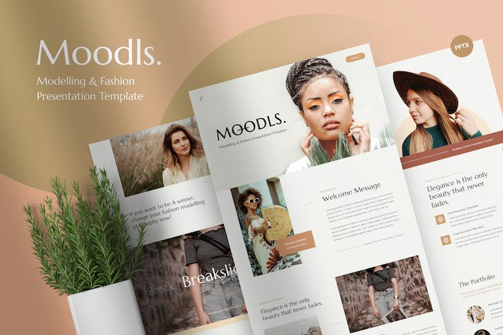 Moodls - Modelling & Fashion PowerPoint