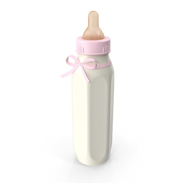 Pink Baby Bottle Full