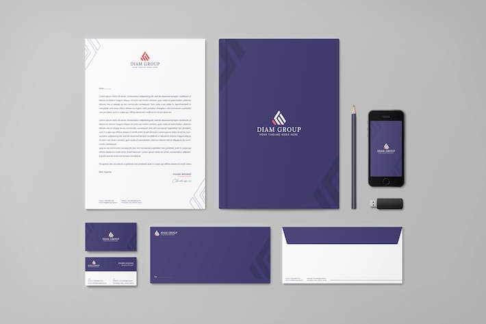 Thumbnail for Diamond Group Branding Identity & Stationery Pack
