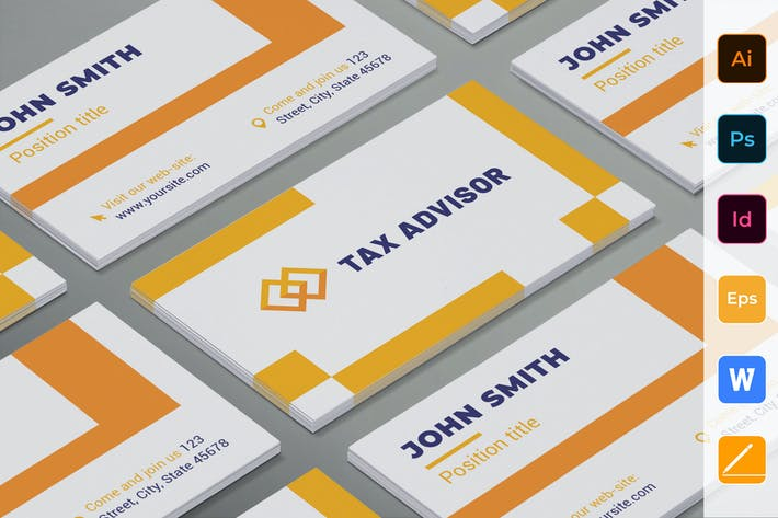 Thumbnail for Tax Advisor Business Card