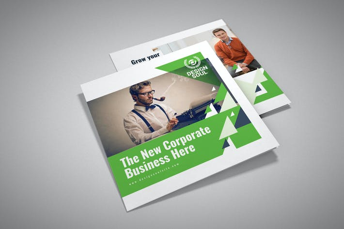 Thumbnail for Square Trifold Brochure