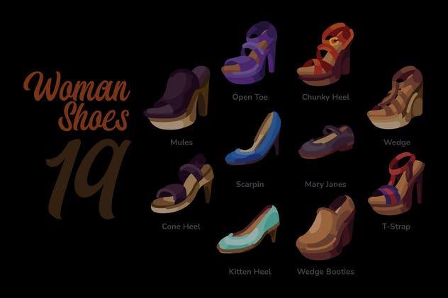 Woman Shoes - Illustration Sets