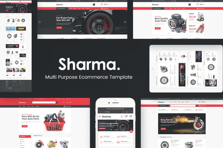 Thumbnail for Sharma - Accessories Car OpenCart Theme