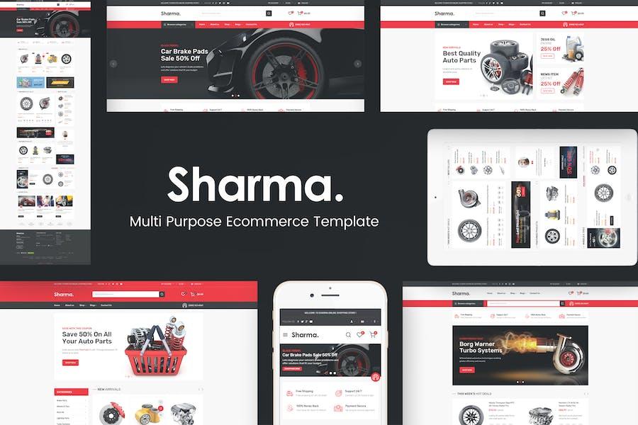 Sharma - Accessories Car OpenCart Theme