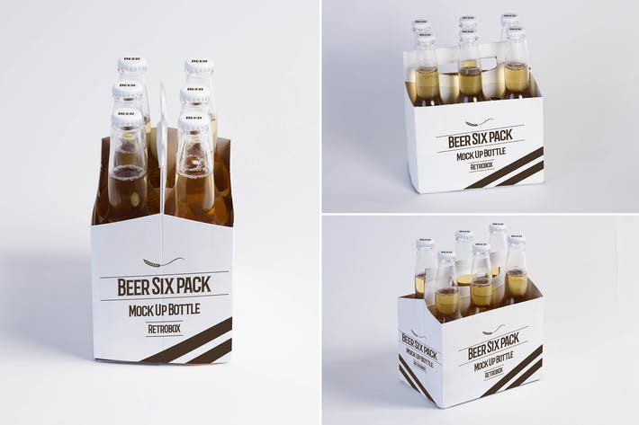 Sixpack Beer Mock Up By Retrobox On Envato Elements