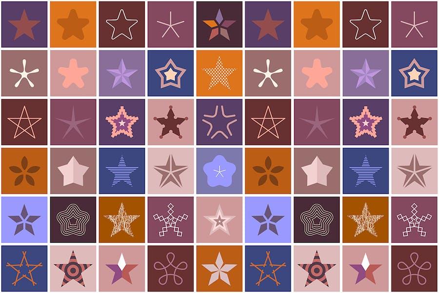 2 options of Star Decorative Elements