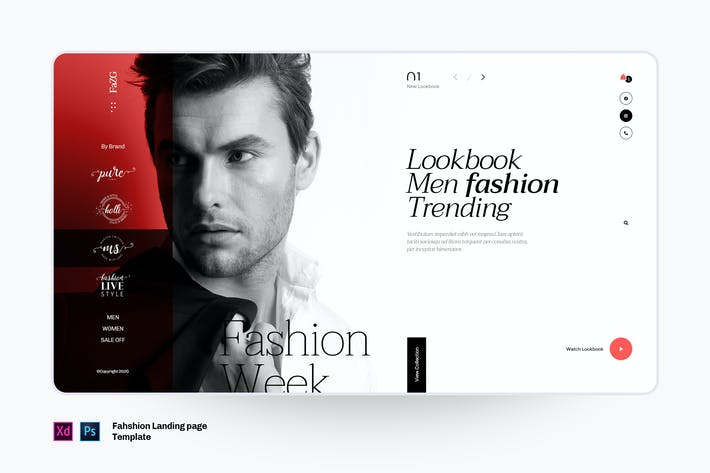 Thumbnail for Fazg - Fashion landing page template