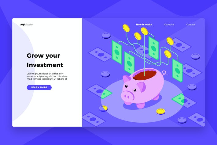 Thumbnail for Piggy Bank - Banner & Landing Page
