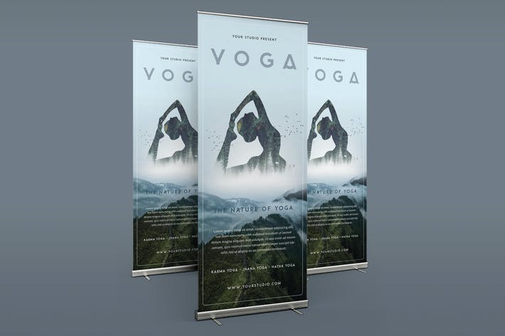 Yoga Roll-Up Banner 3