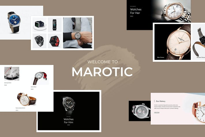 Marotic — Minimal & Limpio Watch Shopify Tema