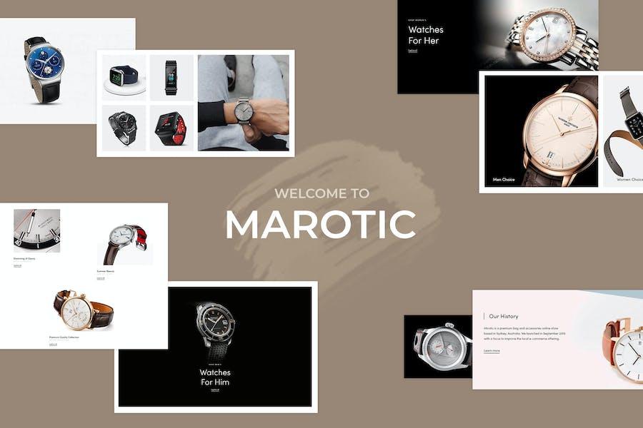 Marotic — Minimal & Limpio Watch Shopify Tema