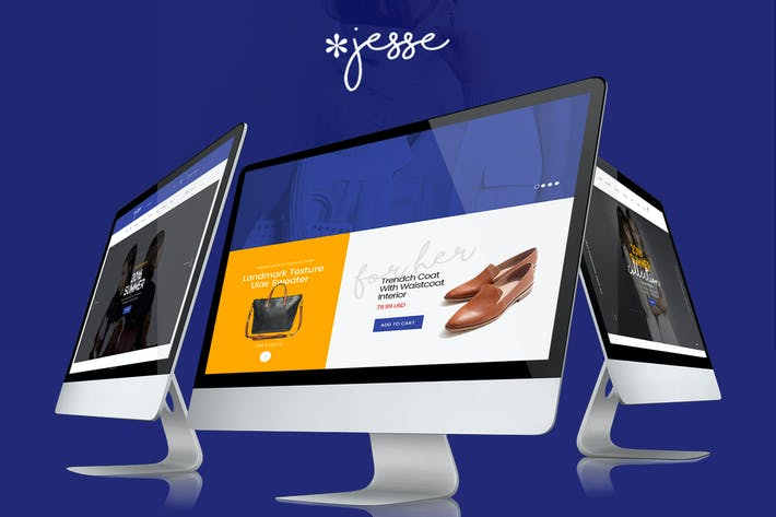 Cover Image For Jesse - Modern Fashion e-commerce PSD Template