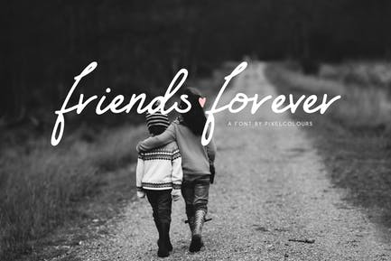 Friends Forever Font+Extras Florales