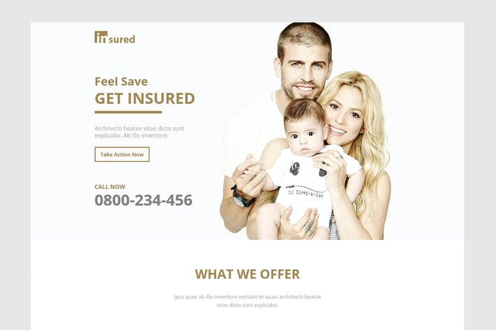 Thumbnail for Insured - Unbounce Landinge Page