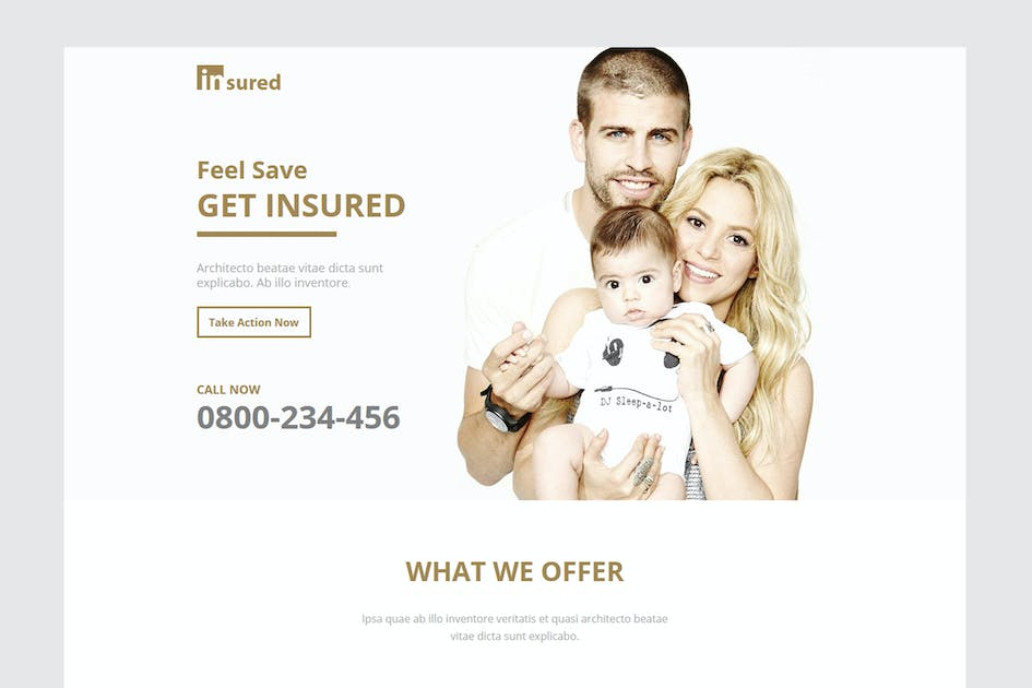 Download Insured - Unbounce Landinge Page by xvelopers