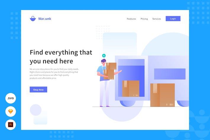 Shipping - Website Header - Illustration