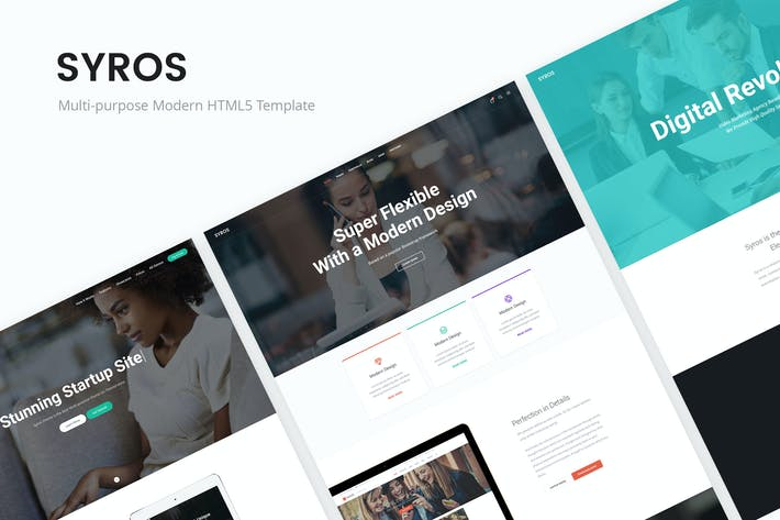 Thumbnail for Syros - Multi-purpose Modern HTML5 Template