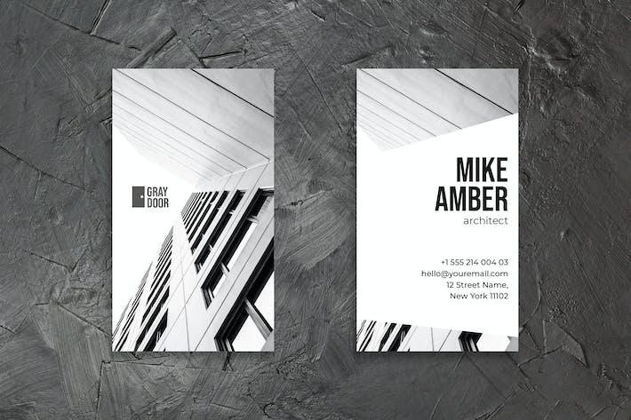 Thumbnail for Black White Business Card Design