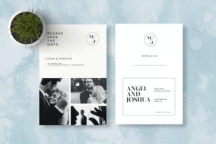 MInimalis Wedding Invitation