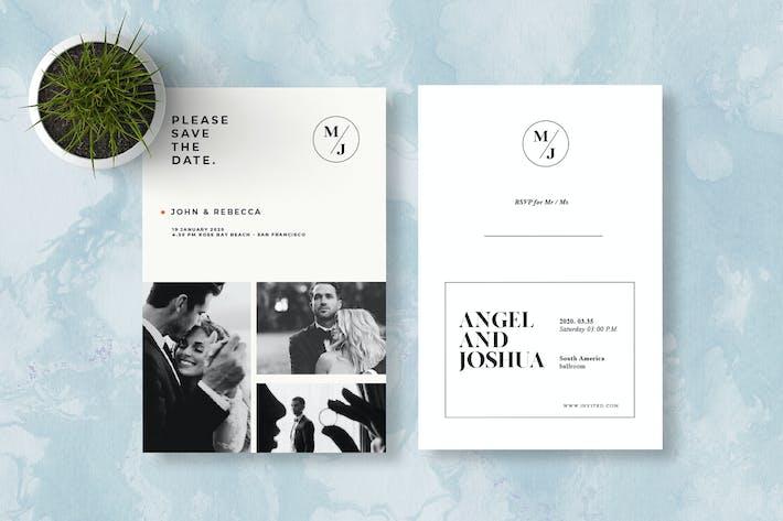 Cover Image For Invitation de mariage Minimalis