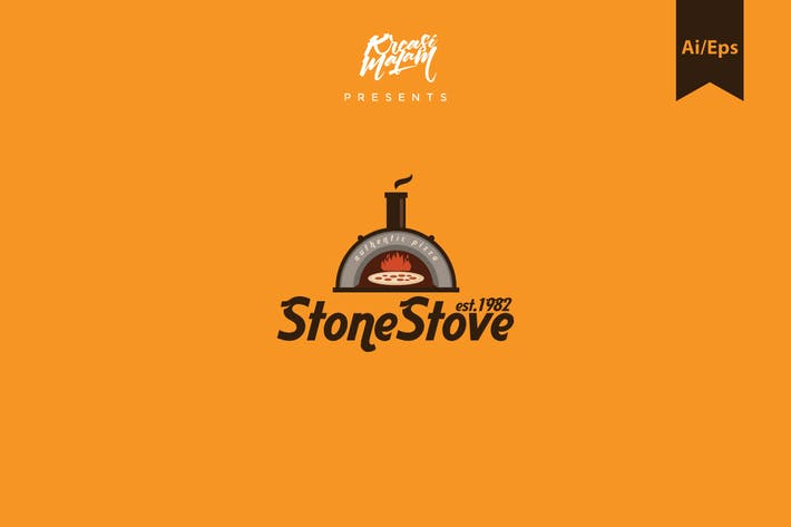 Thumbnail for Stone Stove Logo Template