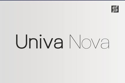 Univa Nova - Minimalist Typeface with Clean Design