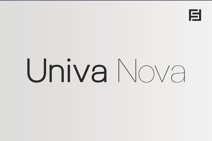 Univa Nova - Minimalist Typeface with Clean Design
