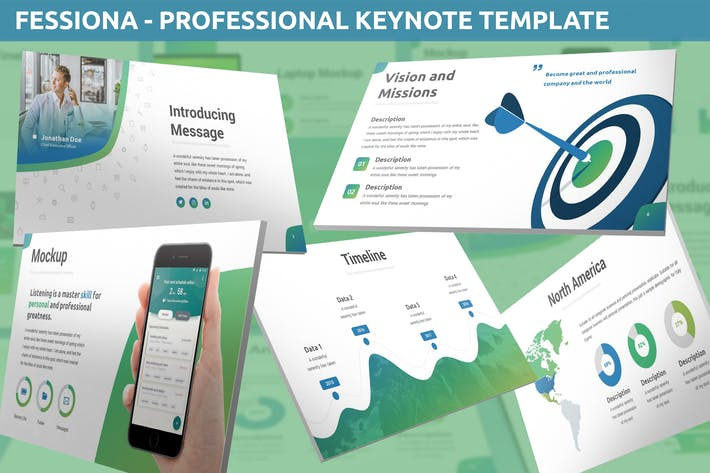 Thumbnail for Fessiona - Professional Keynote Template