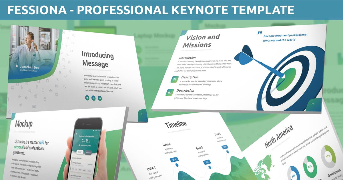 Download Fessiona - Professional Keynote Template by SlideFactory