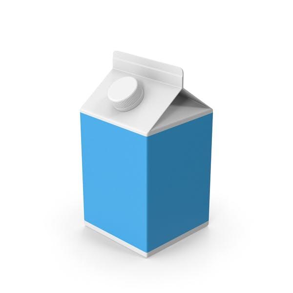 Картонный молочный пакет короткий
