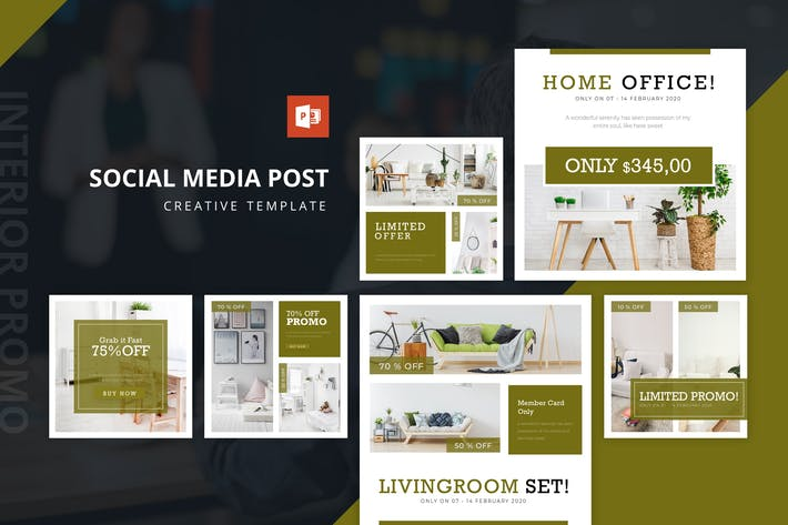 Thumbnail for Interior Instagram Feed Powerpoint Template