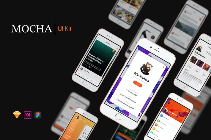 Thumbnail for Mocha Mobile UI Kit