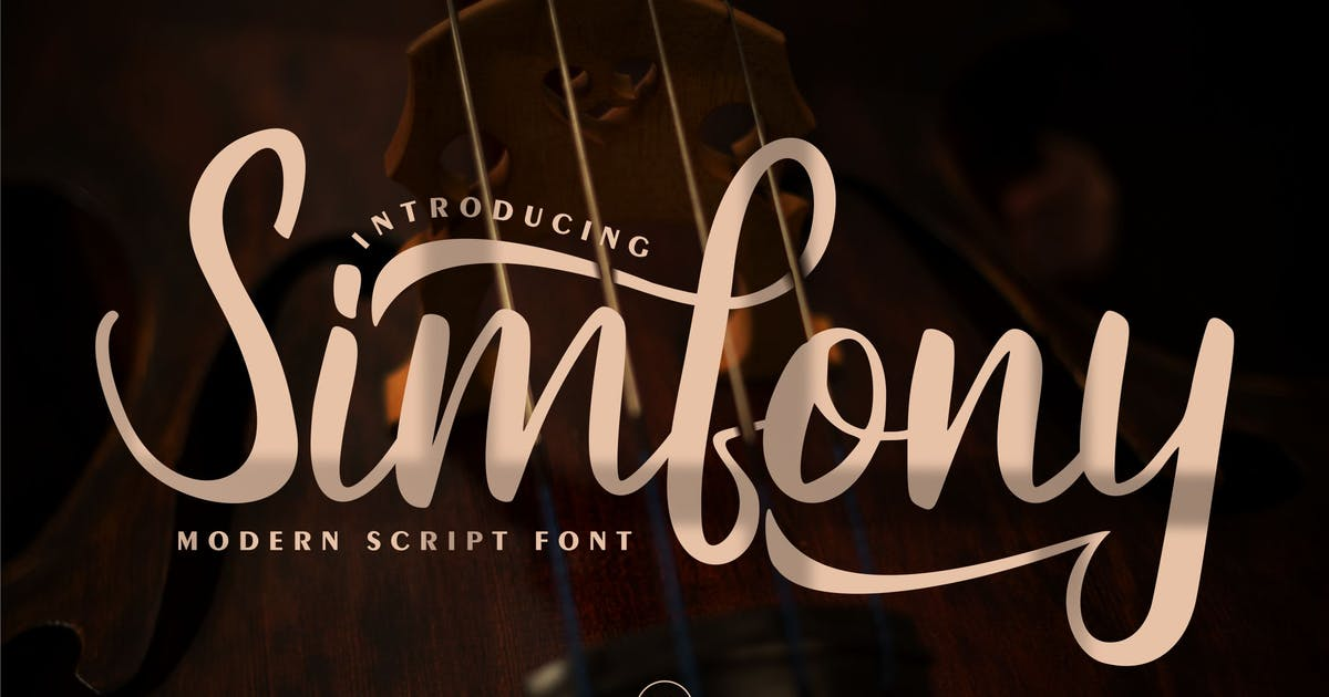 Download Simfony | Modern Script Font by Vunira