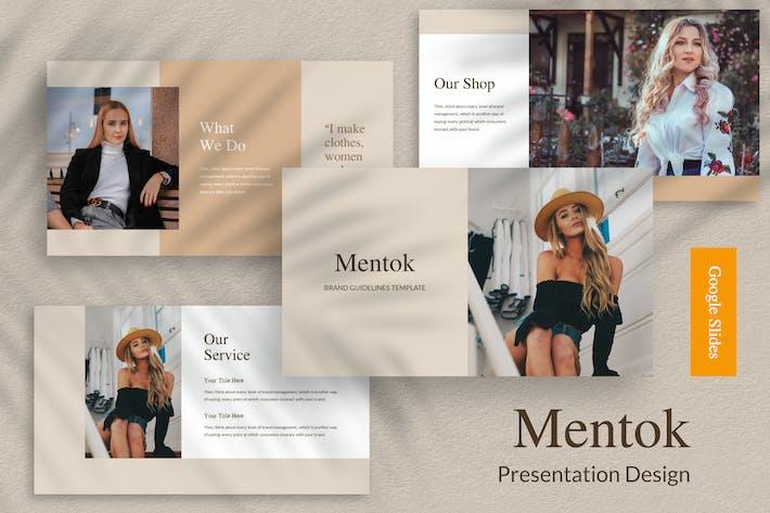 Thumbnail for Mentok - Презентация Дизайн Шаблон Google Слайд