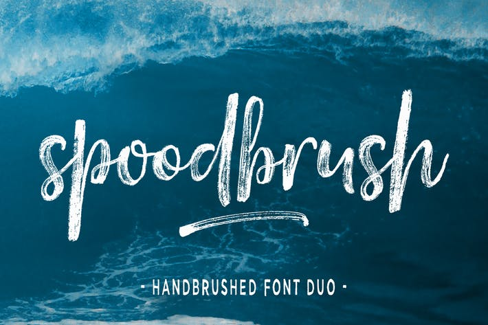 Thumbnail for Spoodbrush Font