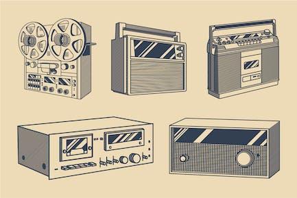 Vintage-Audio Illustration