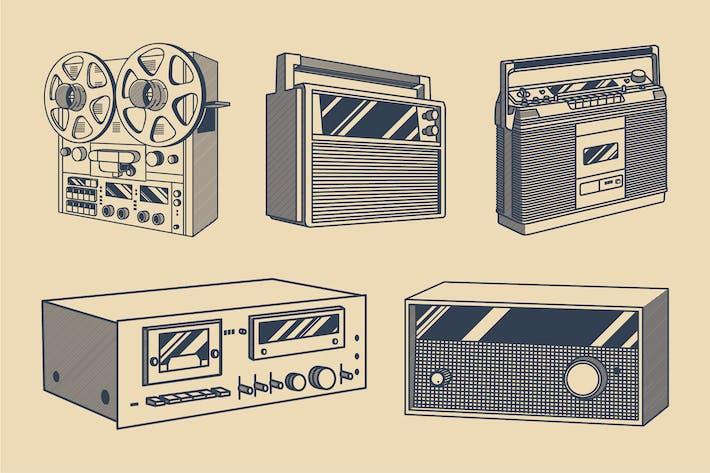 Thumbnail for Vintage Audio Illustration