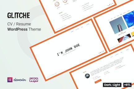 Glitche - CV Resume WordPress Theme