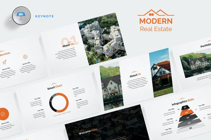 Thumbnail for Modern Real Estate Keynote Template