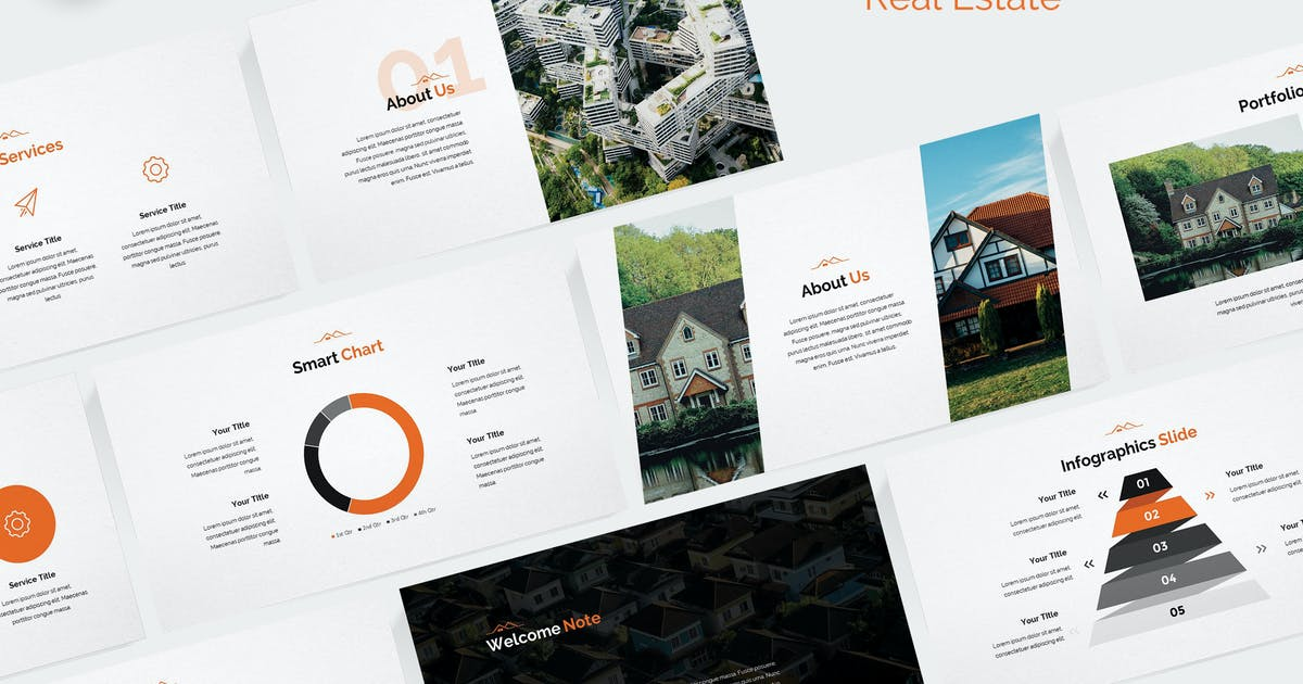 Modern Real Estate Keynote Template by Unknow