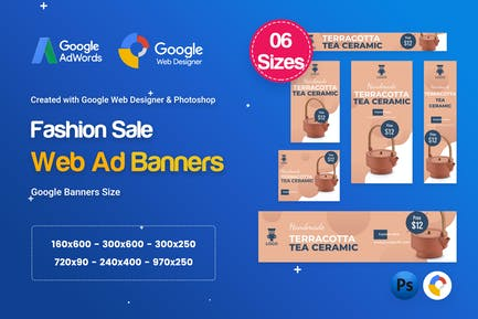 Product Sale Banners HTML5 D42 Ad - GWD & PSD