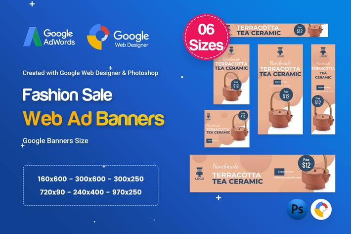 Thumbnail for Product Sale Banners HTML5 D42 Ad - GWD & PSD