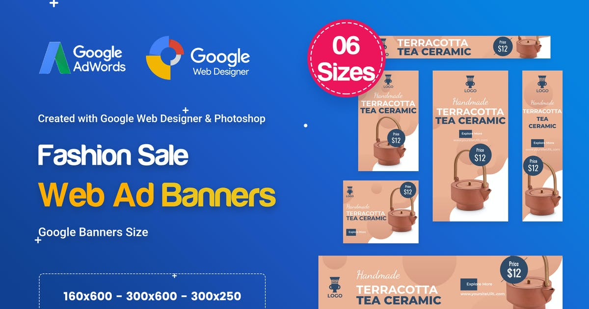 Download Product Sale Banners HTML5 D42 Ad - GWD & PSD by iDoodle