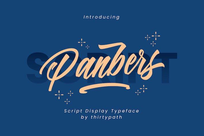 Thumbnail for Police de script Panbers