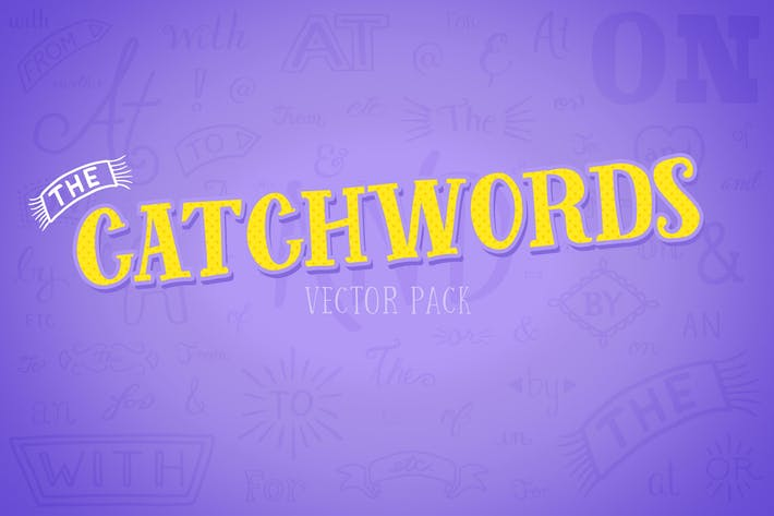 Thumbnail for Catchwords Vector Pack Volume 1
