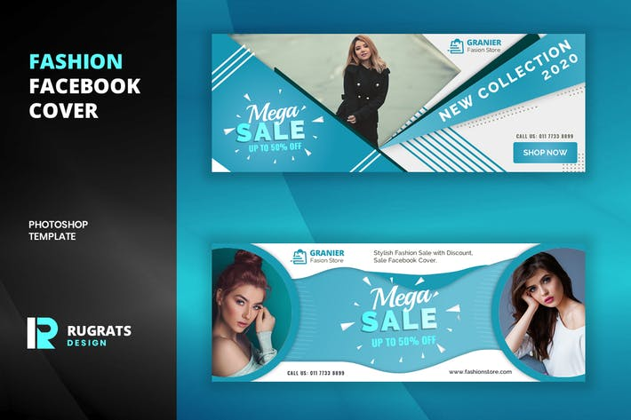 Thumbnail for Fashion R7 Facebook Cover Template